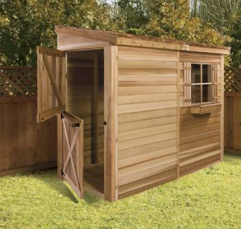 Cedar Storage Shed for Pool Equipment