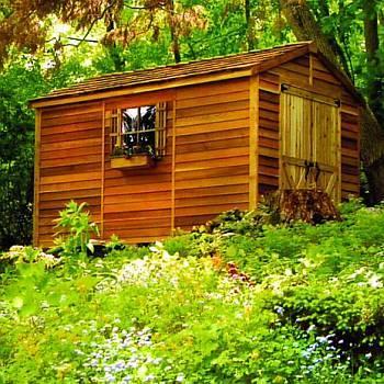 Rancher Cedar Storage Shed