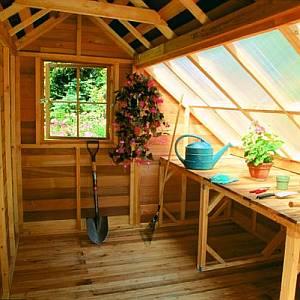 ... Cedar Garden Shed Interior