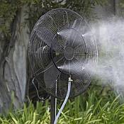 Misting Fans help beat the heat