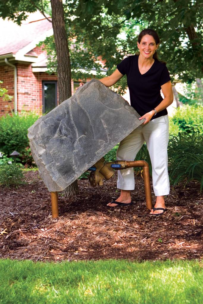 Rock Enclosures Cover Unsightly Items In Your Yard