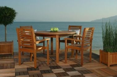 Eucalyptus Poolside Furniture is a very affordable alternative