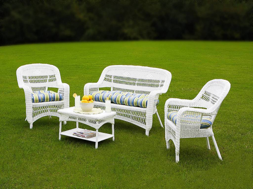 Image Result For White Resin Wicker Outdoor Patio Furniture Set