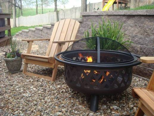 Cozy Oil Rubbed Bronzed Fire Pit