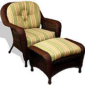 Lexington Club Chair and Ottoman