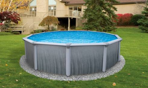 Above ground swimming pools cost a fraction of In Ground Pools