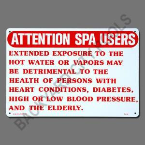 Spa Warning Sign