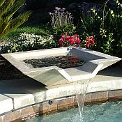Kutstone Cubic Scupper Pool Fountain