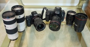 My Canon camera kit compared to the new Sony A7R ii