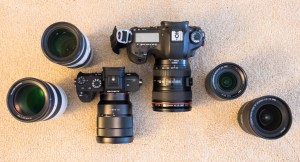 Comparison between my Canon 5D and Sony A7R ii kits