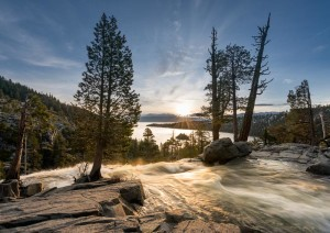 Eagle Falls above Emerald Bay on Lake Tahoe
