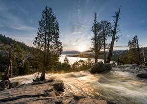 Eagle Falls above Emerald Bay on Lake Tahoe