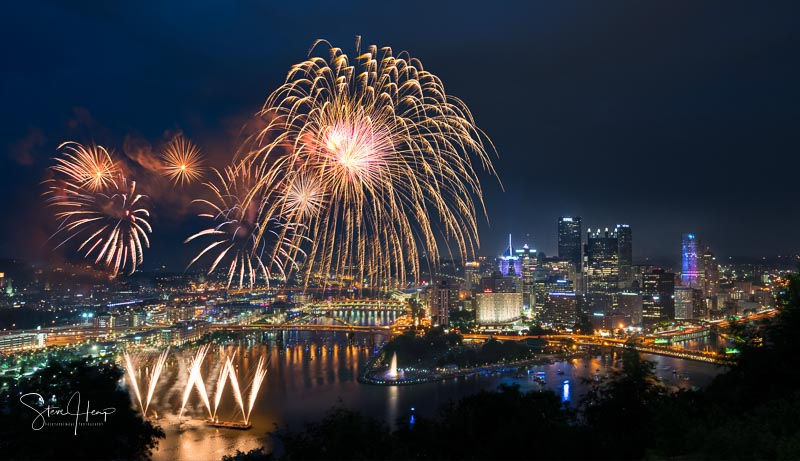 Independence day photographs over Pittsburgh Pennsylvania