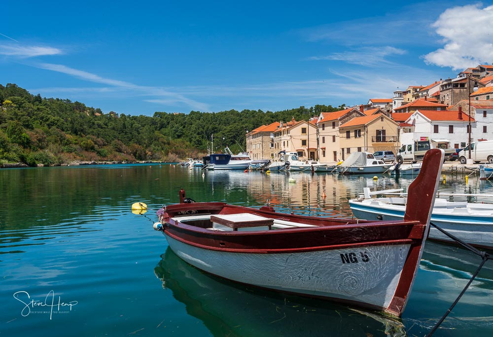 Fishing boat in the harbor of Novigrad in Croatia