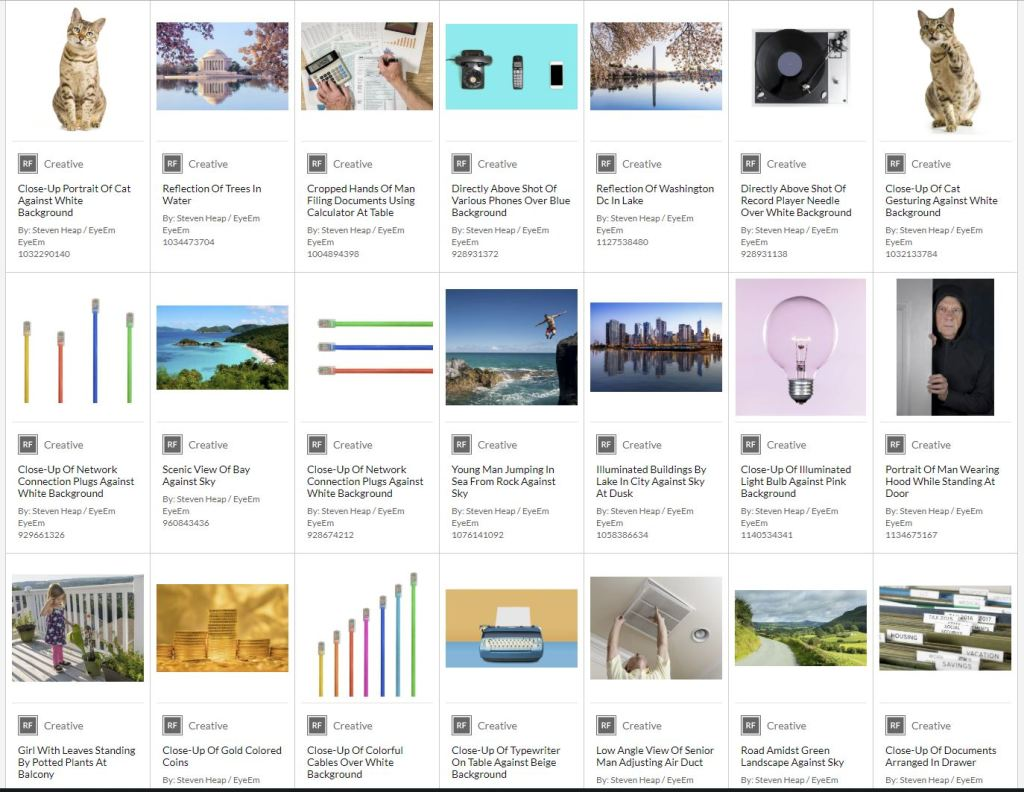 Snapshot of the captions of stock photos in Getty Images agency library