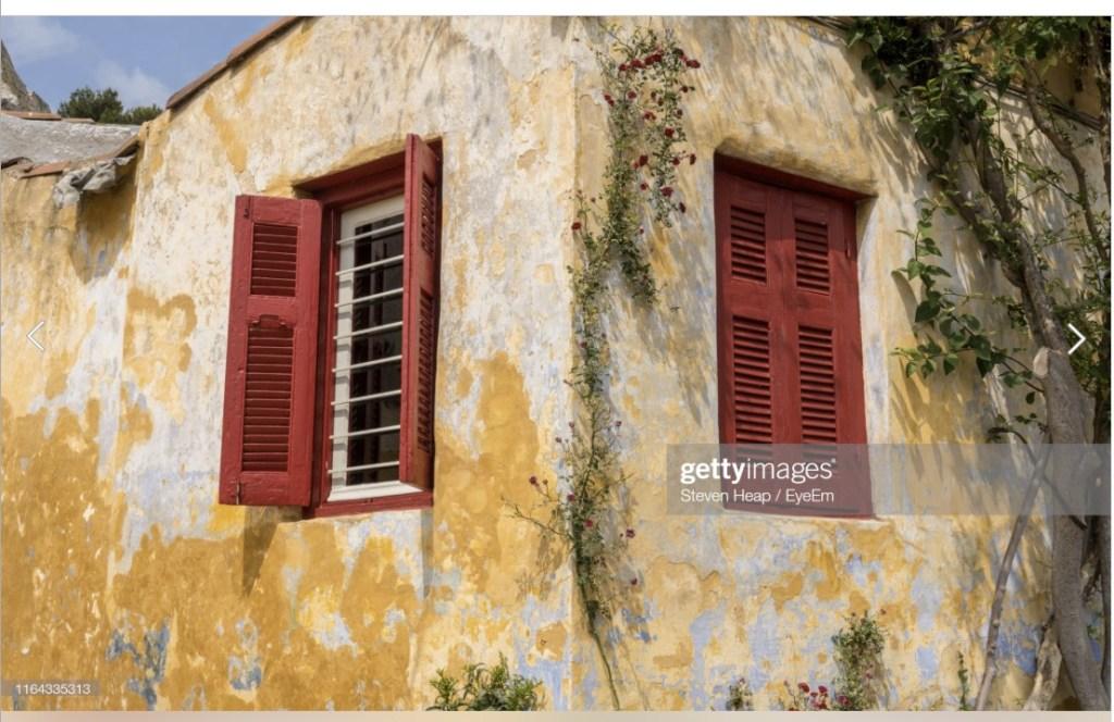 Anafiotika house near the Acropolis in Athens