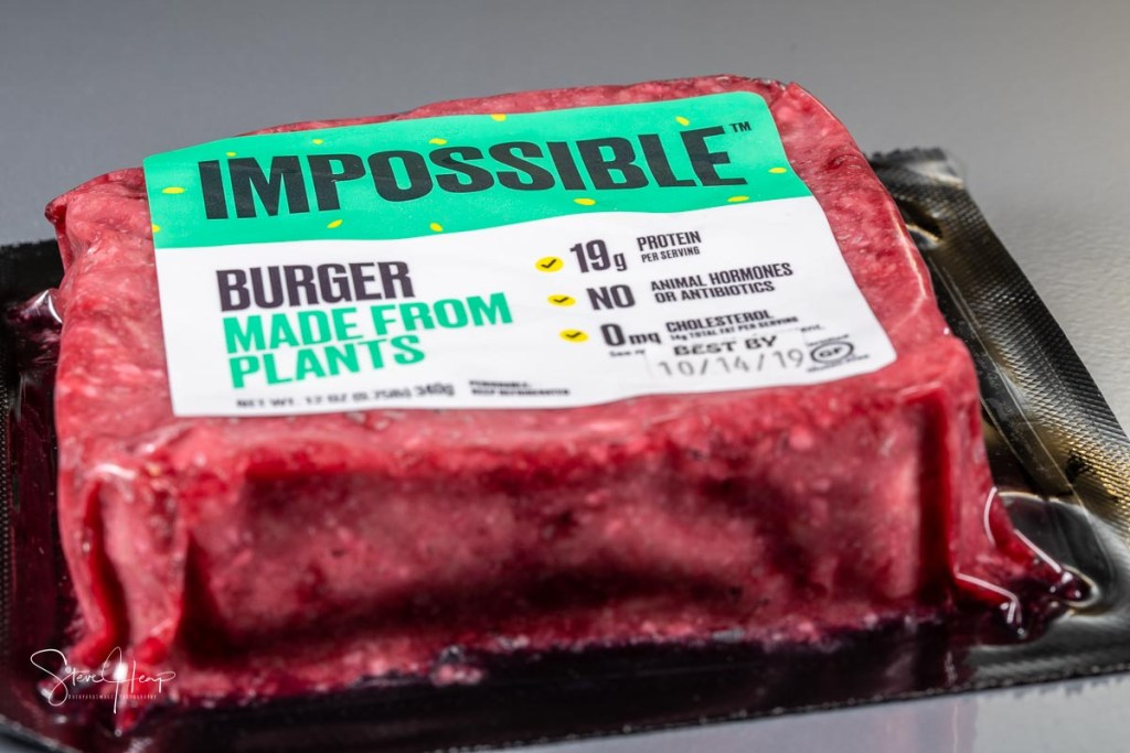 Impossible food burger material