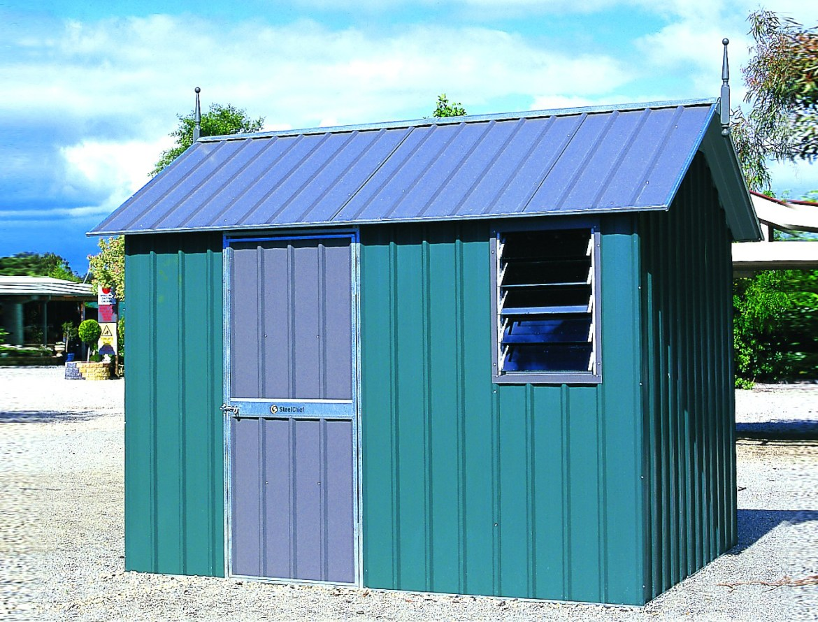 Steel Framed Sheds : Products backyard world steel frame heritage roof sheds