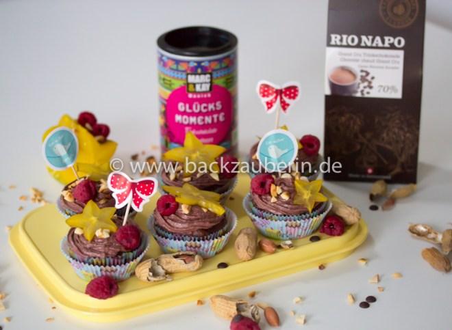 Himbeer-Schoko-Cupcakes