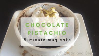 Low carb chocolate pistachio sugar free mug cake