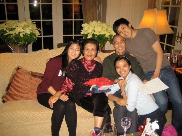 Pongsoon and Robert Awh and grandchildren