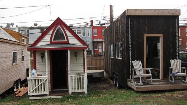 Outstanding Tiny Homes Meet Mobile Homes Bacons Rebellion Home Interior And Landscaping Ologienasavecom