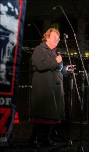 UVa President Teresa Sullivan addresses the crowd at the 14th annual Lighting of the Lights