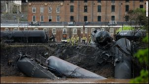 Lynchburg train derailment. Image credit: CNN.