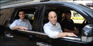 """Oren Shoval and Daniel Ramot, founders of New York's Via private transit system.  """"Our goal is to transform public transit from a regulated system of rigid routes and schedules to a fully dynamic, on-demand network,"""" they say."""