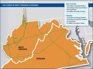 Columbia Pipeline Group network in Virginia and West Virginia.