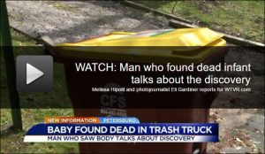 And you thought the dead-baby-in-a-Petersburg-garbage-truck story was bad! Photo credit: WTVR