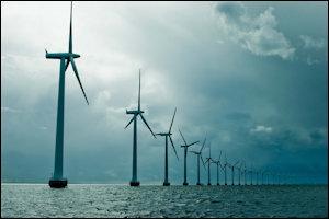 Wind turbines off the Danish coast.
