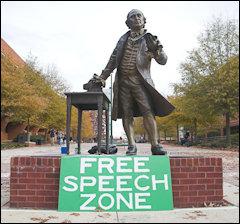 George Mason University as free speech zone.