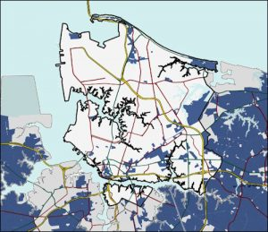 Norfolk map of fiber optic coverage