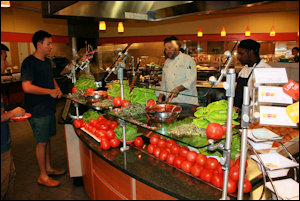 UVa's Runk Dining Hall is big on fresh, locally sourced produce.