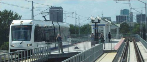 The Tide light rail in Norfolk won't be extended to Virginia Beach any time soon. Image credit: Railfan Guide