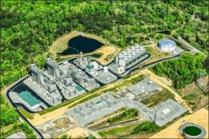 Aerial view of the Panda Stonewall facility in Loudoun County.