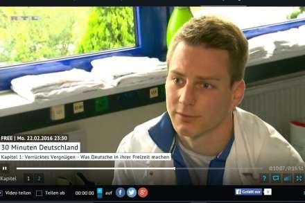 Screenshot vom RTL Interview bei 30 Minuten Deutschland