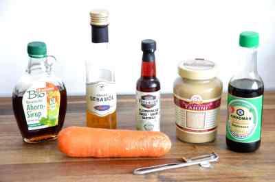 Veganer Bacon aus Möhren - Zutaten