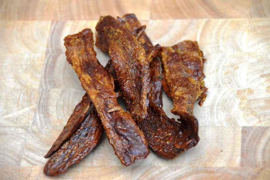 Rezept für eine vegetarische und vegane Alternative zu Bacon vom Schwein