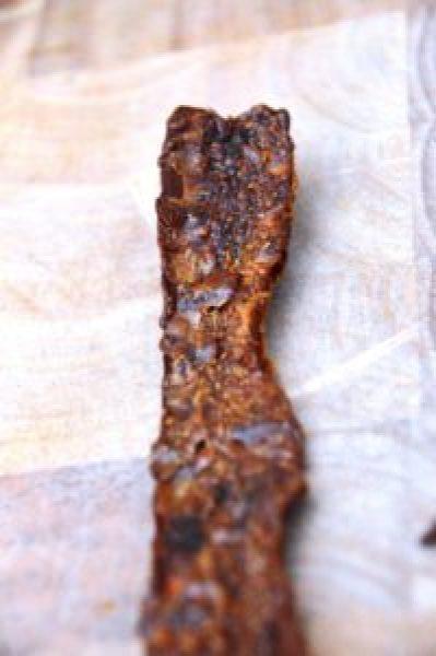 Vegetarischer Bacon aus Möhre - Detail