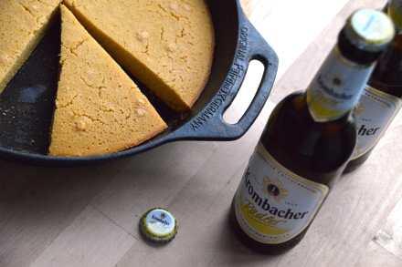 Rezept für Maisbrot mit Radler vom Grill