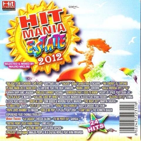 Hit Mania Estate 2012 copertina album artwork