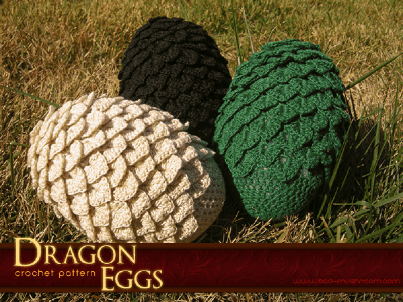 Crochet dragon eggs