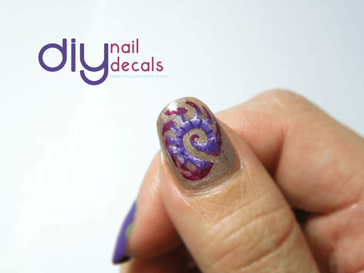 DIY nail decals tutorial