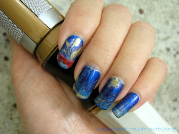 Doctor Who Eleven regeneration nail art
