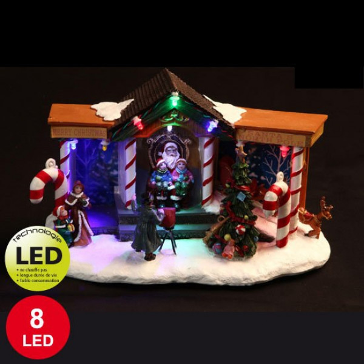 Village De Noel Anim Vitrine Du Pre Noel Decoration De