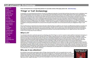 A screenshot of the last incarnation of this site's precursor