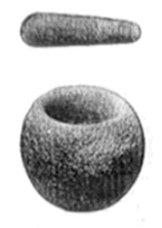 Mortar and pestle from Table Mountain, Tuolomne (California, USA)