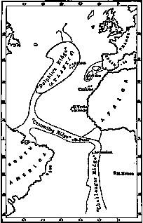 Ignatius Donnelly's map of Atlantis